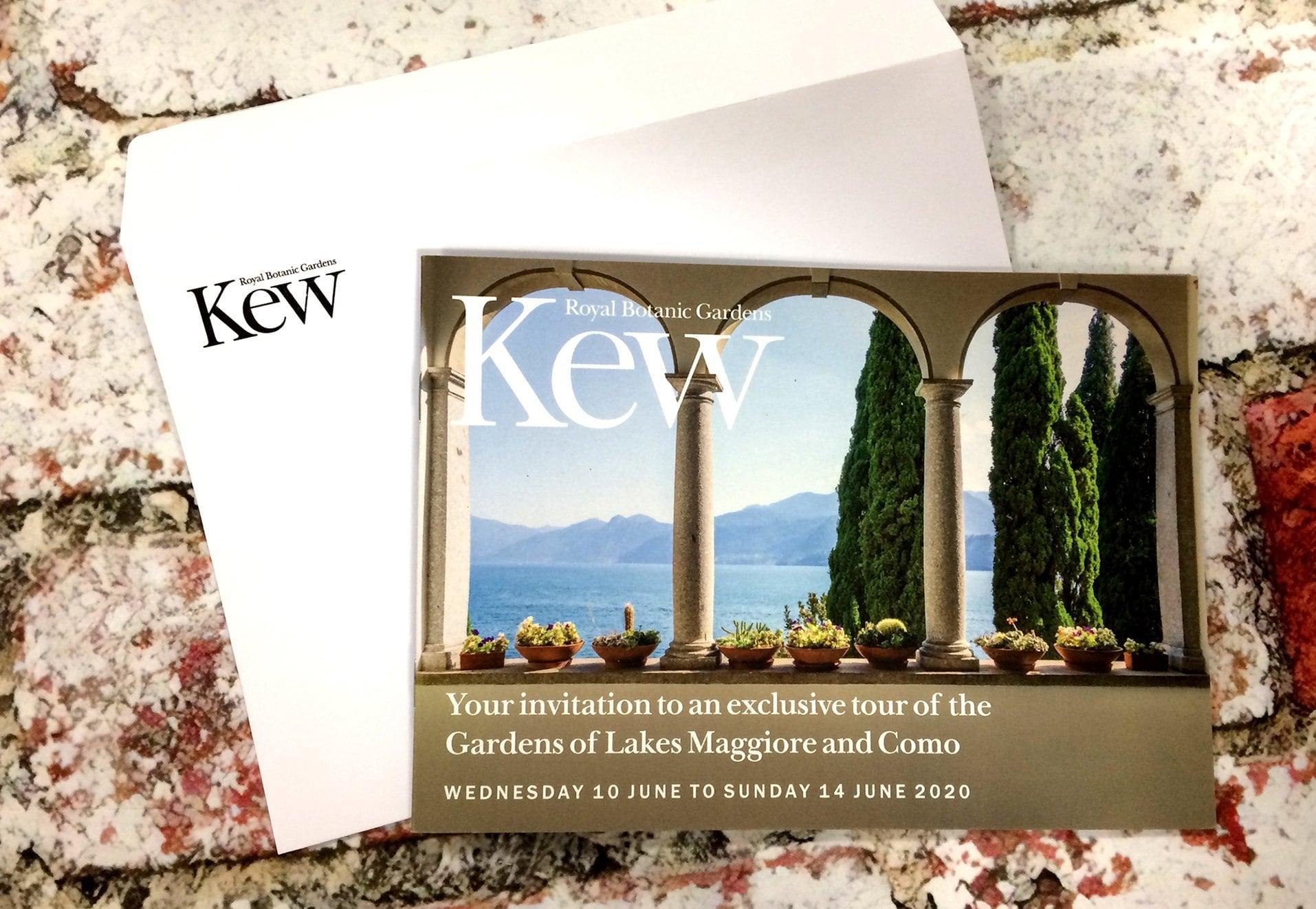 Kew Italy Trip Printed Material Cover